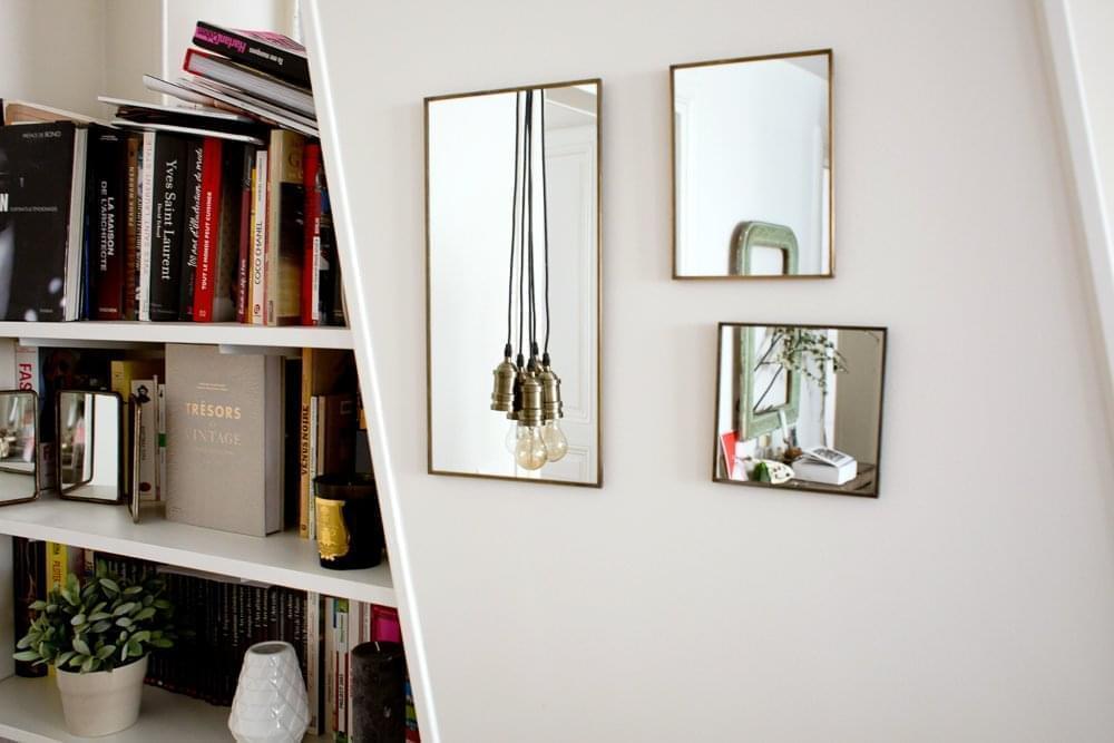 miroir bijoux casa interesting lot de miroirs adhsifs x cm blanc with miroir bijoux casa