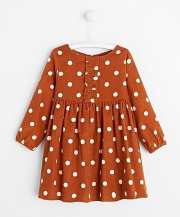 Robe velours motifs pois